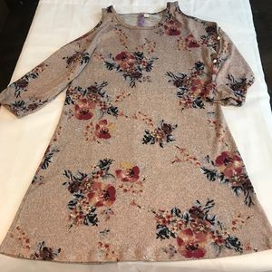 Francesca's Alya Brushed Knit Floral Dress